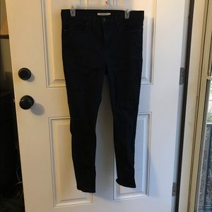 Skinny Black Jeans - Levi's size 31